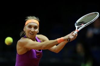 Российская теннисистка Елена Веснина играет в первом круге «Ролан Гаррос» против бразильянки Беатрис Хаддад-Майя