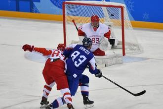 Эпизод матча Россия — Словакия