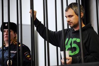 Фотограф Дмитрий Лошагин перед оглашением приговора в Октябрьском районном суде
