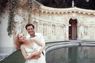 Фэй Данауэй и Марчелло Мастроянни на съемках фильма «Любовники».Тревизо, 1968