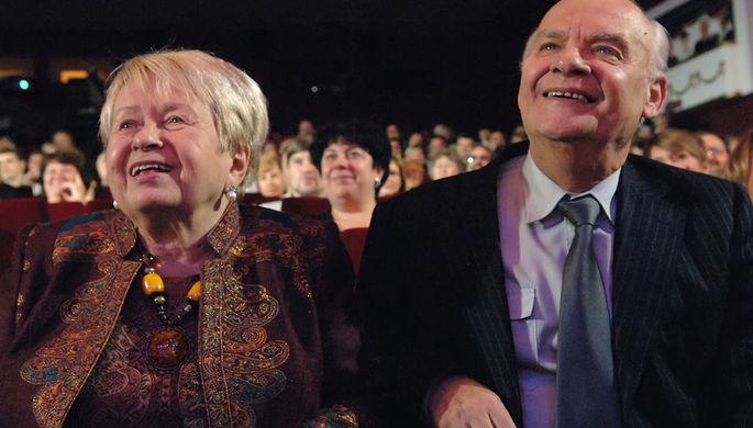 Композитор Александра Пахмутова и поэт Николай Добронравов, 2008 год