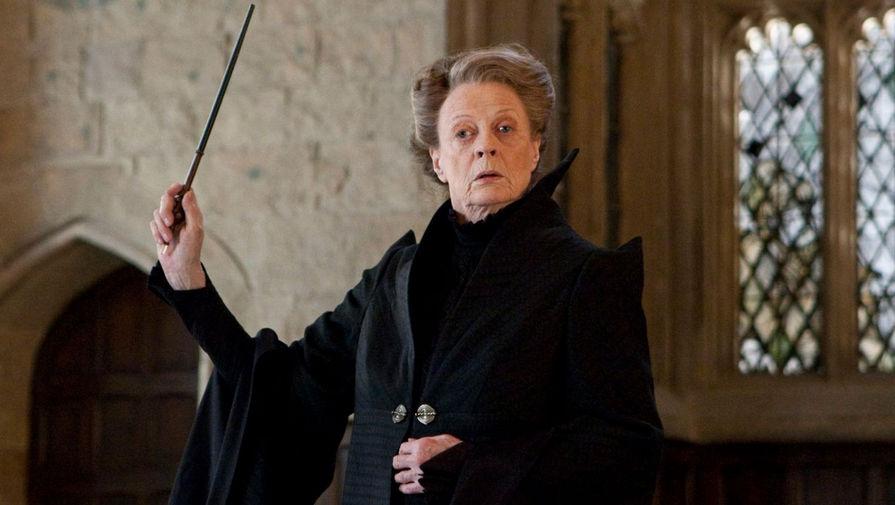 Мэгги Смит в образе профессора Минервы МакГонагалл в фильме «Гарри Поттер и Дары Смерти: Часть II» (2011)