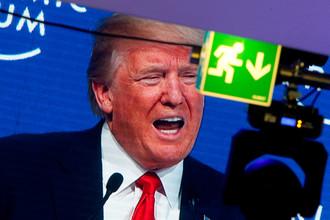 Президент США Дональд Трамп во время Всемирного форума в Давосе, 26 января 2018 года