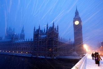 Вид на Вестминстерский мост в центре Лондона