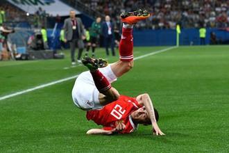 Игрок сборной России Алексей Ионов в отборочном матче чемпионата Европы по футболу 2020 между сборными командами России и Кипра.