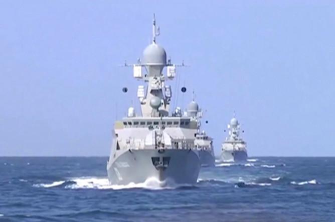 Кадр с видео, опубликованного Министерством обороны РФ на своем официальном канале в YouTube