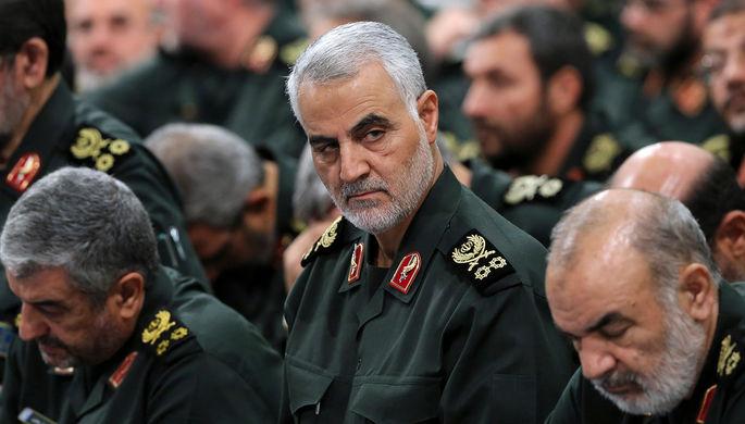 Архивный снимок: командующий силами спецназначения «Аль-Кудс» иранского Корпуса стражей исламской революции (КСИР) Касем Сулеймани во время встречи в Тегеране, 2016 год