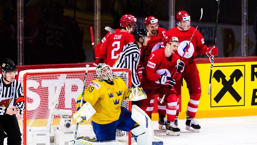 Матч Россия — Швеция на чемпионате мира по хоккею