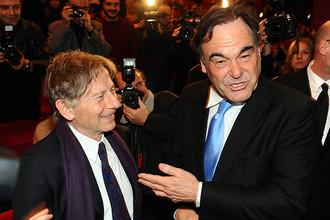 С Романом Полански на показе фильма «Буш» (2008)
