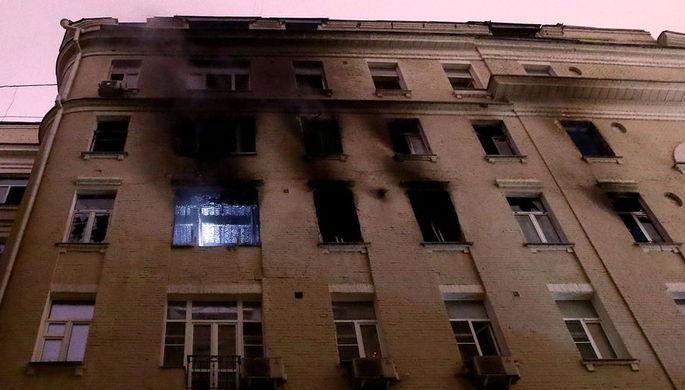 Пожар на Никитском бульваре: горел дом Дапкунайте, есть жертвы