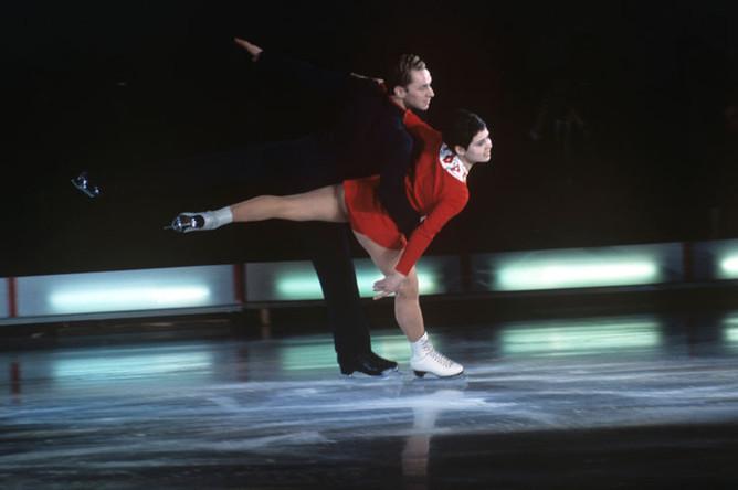 Чемпионы Европы и мира в парном катании Ирина Роднина и Алексей Уланов, 1970 год