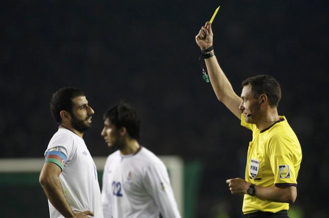 Судья в этот вечер не был благосклонен ко сборной Азербайджана