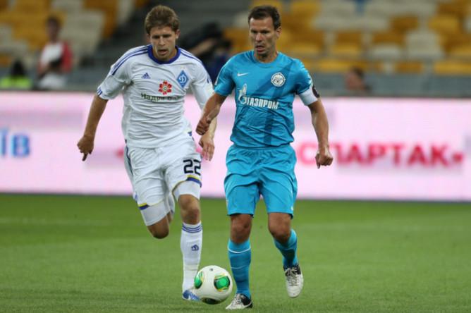 Константин Зырянов с мячом.