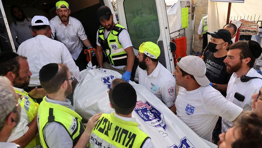 Последствия обрушения трибун во время еврейского религиозного праздника Лаг ба-Омер на горе Мерон, 30 апреля 2021 года