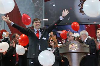 Михаил Саакашвили на съезде Единого национального движения, 2007 год
