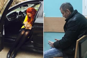 Мария Моисеева и водитель BMW (коллаж)