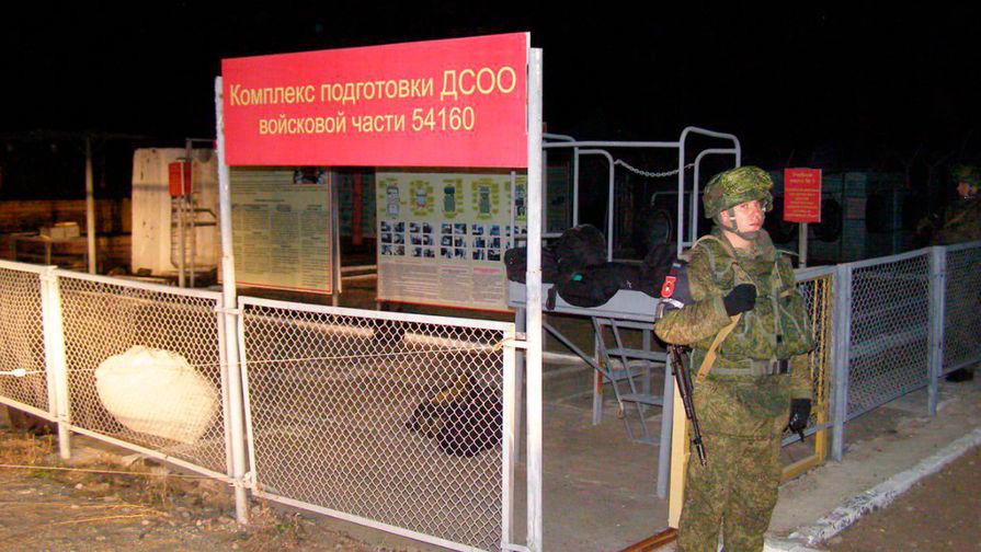 На месте расстрела сослуживцев солдатом-срочником Рамилем Шамсутдиновым в воинской части в Забайкальском крае, 25 октября 2019 года