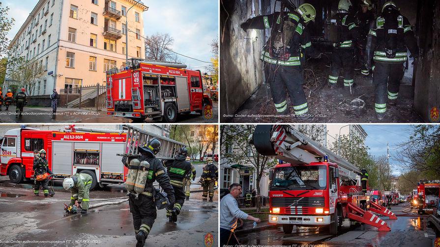 СК сообщил о смерти одного человека при пожаре в московской гостинице