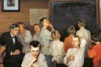 Устный счет. В народной школе С.А. Рачинского, 1895 год
