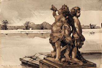Версаль. Водный партер. 1906. Бумага, акварель, тушь, карандаш