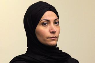 Саудовская принцесса Мешаэль Алайбан в зале суда в Санта-Ане, Калифорния