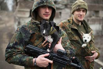 Бойцы батальона «Азов» под Мариуполем