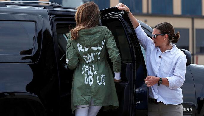 Первая леди США Меланья Трамп после визита в детский приют на границе с Мексикой, 21 июня 2018 года