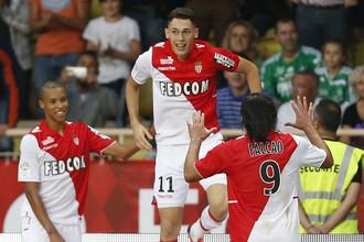 Победу «Монако» над «Сент-Этьеном» принесли два молодых игрока Янник Феррейра-Каррасо и Лукас Окампос