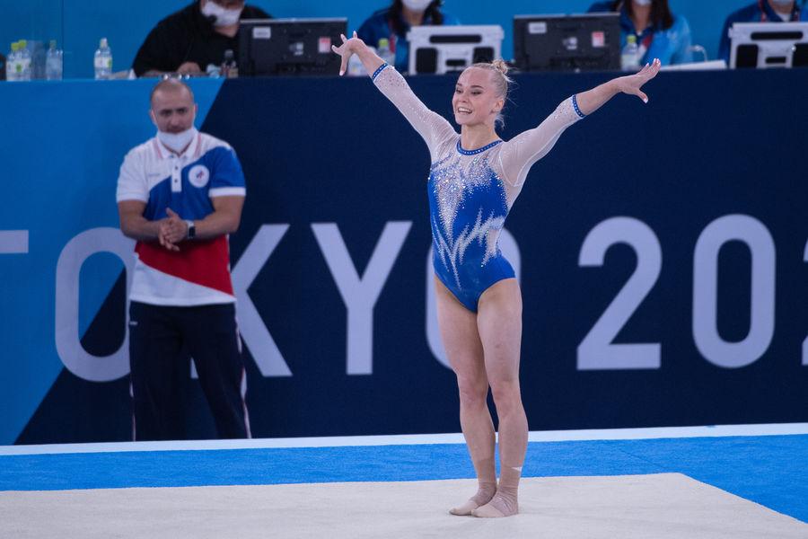 Российская гимнастка Ангелина Мельникова наОлимпийских играх вТокио