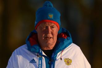 Вольфганг Пихлер в бытность главным тренером женской сборной России по биатлону