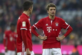 Нападающий «Баварии» (Мюнхен) Томас Мюллер за 16 матчей текущего сезона забил всего один мяч