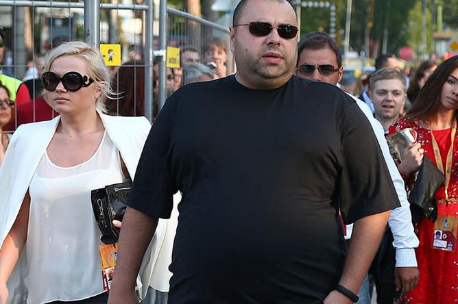 Продюсер Максим Фадеев перед началом концерта первого конкурсного дня «Новая волна-2013» в Юрмале