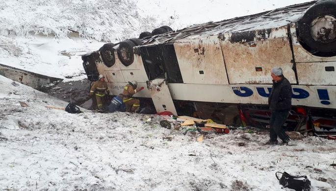 Трагедия под Тамбовом: два автобуса съехали в кювет