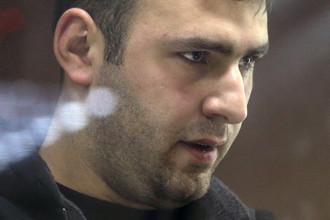 Шота Элизбарашвили, водитель предпринимателя Амирана Георгадзе, разыскиваемого по делу об убийстве четырех человек в Красногорском районе, во время рассмотрения ходатайства следствия об аресте в Бабушкинском суде