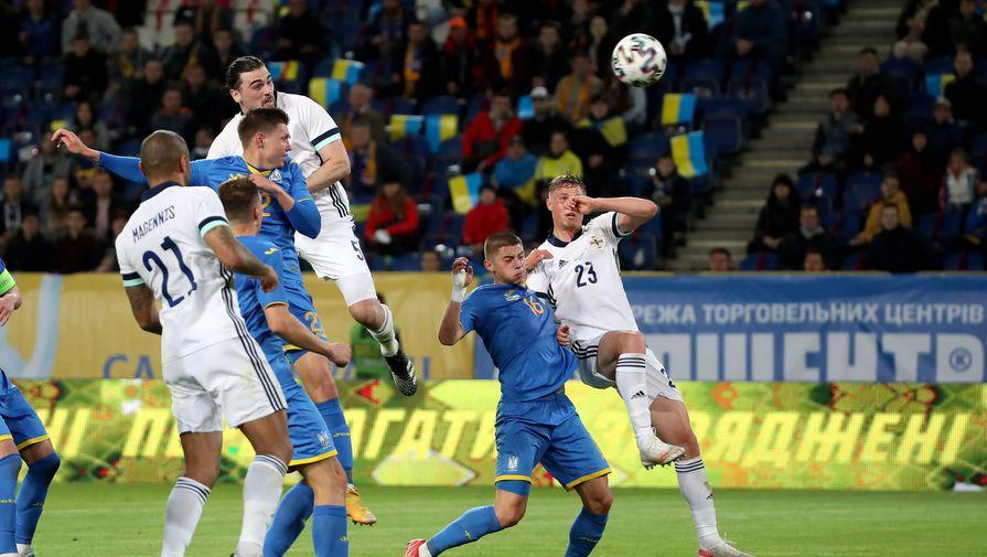 Фрагмент матча Украина — Северная Ирландия