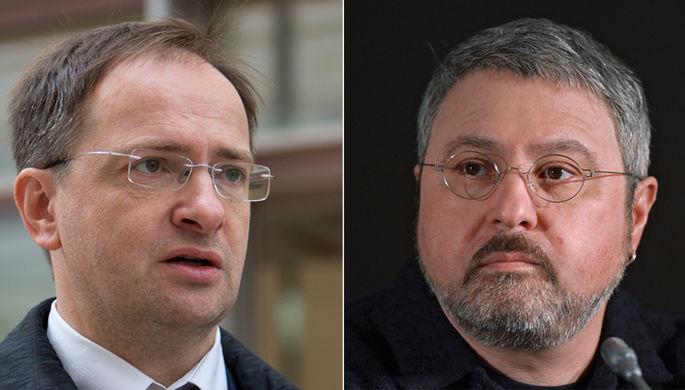 Министр культуры РФ Владимир Мединский и режиссер Дмитрий Месхиев