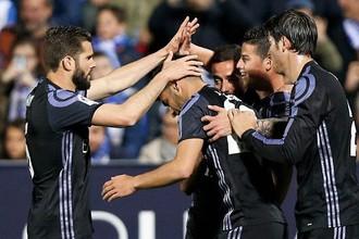 «Реал» празднует гол в ворота «Леганеса»