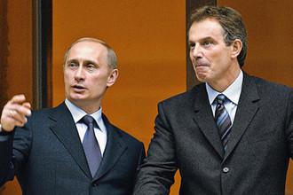 2003 год. Президент России Владимир Путин во время встречи с премьер-министром Великобритании Тони Блэром