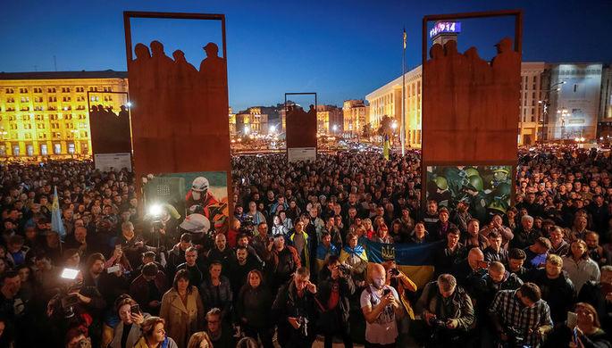 Митинг протеста против «формулы Штайнмайера» в Киеве, 2 октября 2019 года