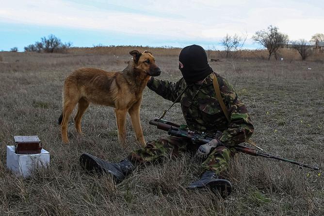 Украинский военный в Херсонской области