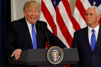 Президент США Дональд Трамп и вице-президент США Майк Пенс