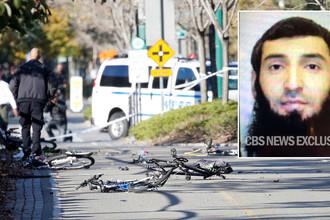 Место теракта в Манхеттене / задержанный Сайфулло Саипов