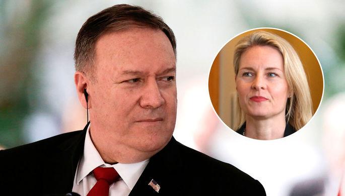 «Американцам есть дело до Украины?» Помпео обругал журналистку
