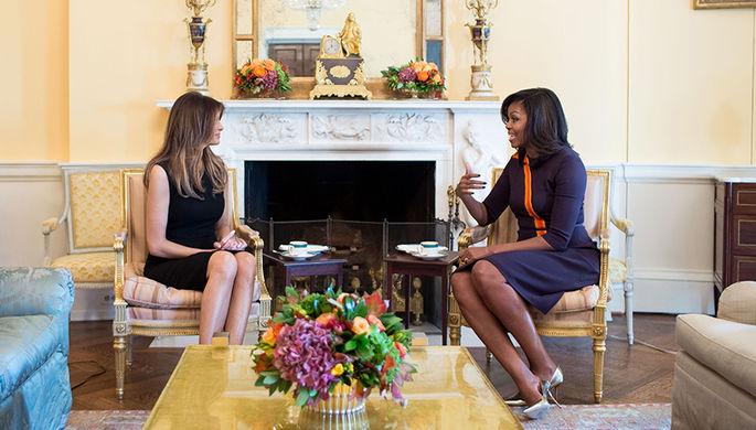 Меланья Трамп и Мишель Обама