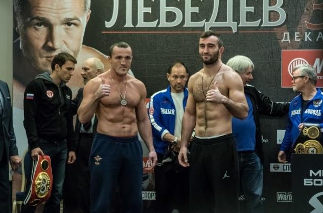 Денис Лебедев (слева) и Мурат Гассиев