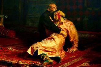 Иван Грозный убивает своего сына, репродукция