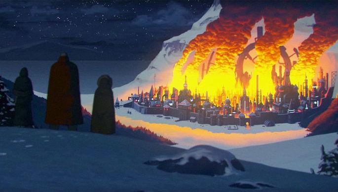 Кадр из трейлера мультфильма «Киберслав»