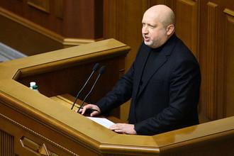 Секретарь СНБО Украины Александр Турчинов на заседании Верховной рады в Киеве, октябрь 2017 года