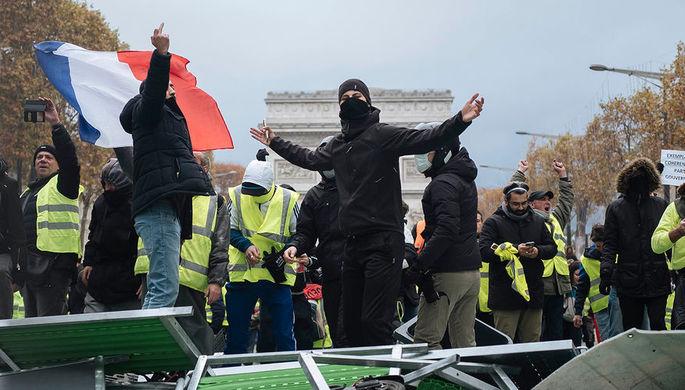 Протесты против повышения цен на топливо в Париже, 24 ноября 2018 года