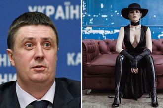 Вице-премьер-министр Украины Вячеслав Кириленко и певица Maruv, коллаж